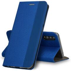 Xiaomi Redmi 9C, Oldalra nyíló flip tok, Vennus Sensitive, kék