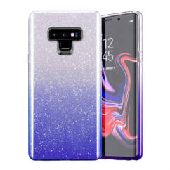 Samsung A725/A726 Galaxy A72/A72 5G, Szilikon tok, Bling (Csillámos), kék