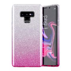 Samsung A022/M022 Galaxy A02/M02, Szilikon tok, Bling (Csillámos), rózsaszín
