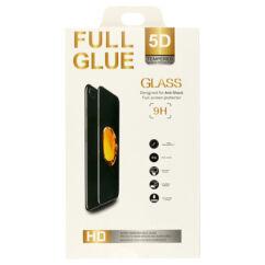 Samsung A022 Galaxy A02, Kijelzővédő fólia (ütésálló) Full Glue 5D, fekete