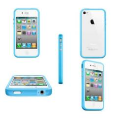 Apple iPhone 4/4S, Védőkeret (bumper), kék