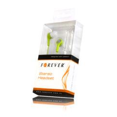 Headset, Forever MP3, MP4 (3,5mm), zöld