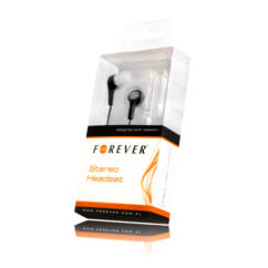 Headset, Forever MP3, MP4 (3,5mm), fekete