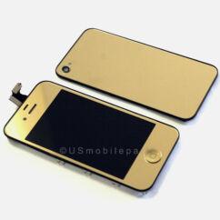 Apple iPhone 4G, LCD kijelző érintőplexivel, arany