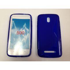 HTC Desire 500, Szilikon tok, S-Case, kék