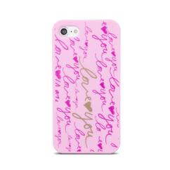 Apple iPhone 7/8/SE 2020, Szilikon tok, Love rózsaszín