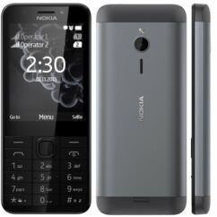 Nokia 230 DualSIM, Mobiltelefon, fekete
