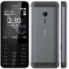 Nokia 230 DualSIM +Domino fix (500MB 40 perc lebeszélhetőség), (Kártyafüggetlen 1 év garancia), Mobiltelefon, fekete