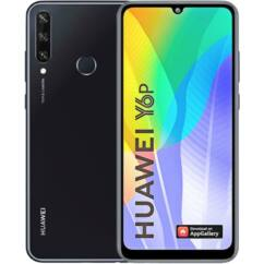 Huawei Y6P 2020 64GB 3GB RAM DualSIM, (Kártyafüggetlen 1 év garancia), Mobiltelefon, fekete