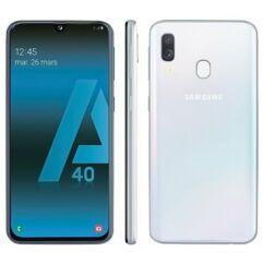 Samsung A405 Galaxy A40 64GB 4GB RAM DualSIM, Mobiltelefon, fehér