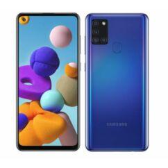 Samsung A217F Galaxy A21S 32GB 3GB RAM DualSIM, (Kártyafüggetlen 1 év garancia), Mobiltelefon, kék