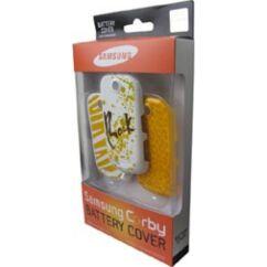 Samsung S3650 Corby 3db, Akkufedél, sárga-Jamaican