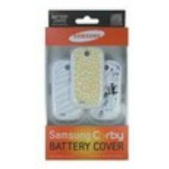 Samsung S3650 Corby 3db, Akkufedél, fehér-Minimal