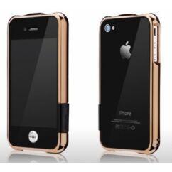 Védőkeret (bumper), Apple iPhone 4, 4S more, arany