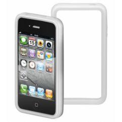 Apple iPhone 4/4S, Védőkeret (bumper), fehér