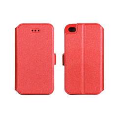 Oldalra nyíló flip tok, Huawei P8 Lite 2017, P9 Lite 2017, Book - piros