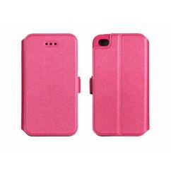 Alcatel OT-5051X Pop 4 (5.0), Oldalra nyíló flip tok, Book, rózsaszín