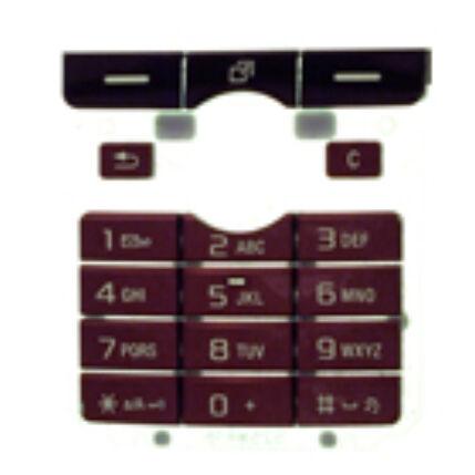 Sony Ericsson K750, Gombsor (billentyűzet), bordó