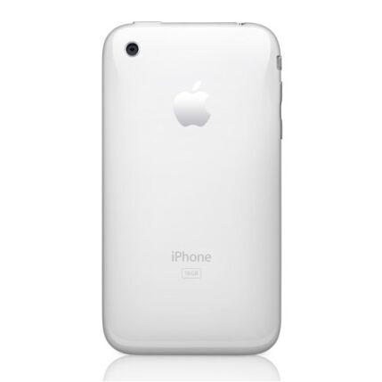 Hátlap, Apple iPhone 3Gs 32GB logo, fehér