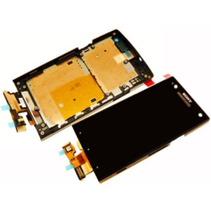 Sony Xperia S LT26i, LCD kijelző érintőplexivel, fekete