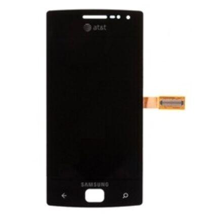 Samsung i8350 Omnia W, LCD kijelző érintőplexivel, fekete