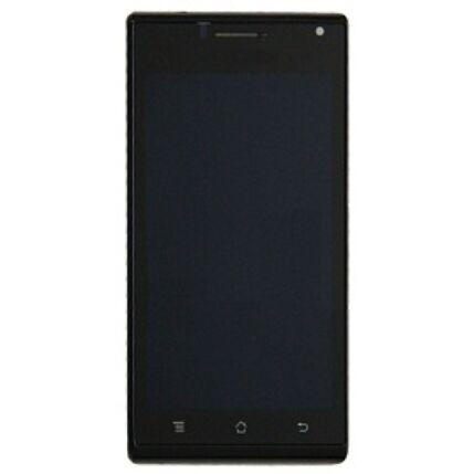 Huawei U9200 P1, LCD kijelző érintőplexivel és előlappal, fekete