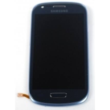 Samsung i8190 Galaxy S3, LCD kijelző érintőplexivel és előlappal, kék