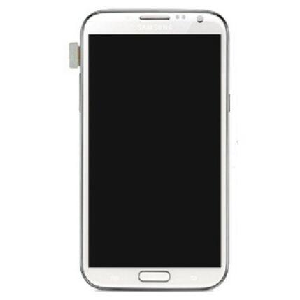 Samsung N7100/N7105 Galaxy Note 2, LCD kijelző érintőplexivel, fehér