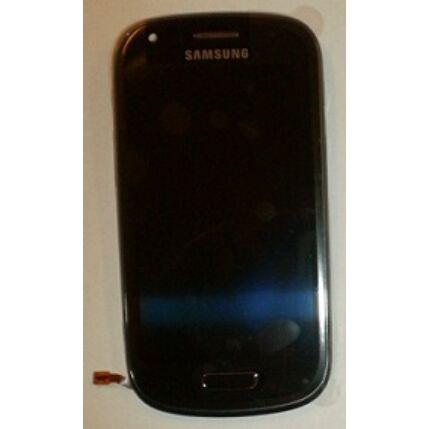 Samsung i8190 Galaxy S3, LCD kijelző érintőplexivel és előlappal, fekete