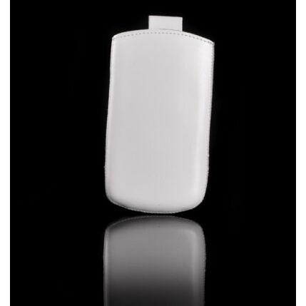 Álló bőr tok, HTC One V, fehér - Special