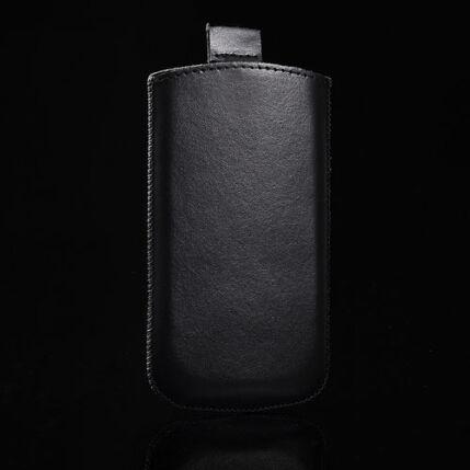 Álló bőr tok, HTC Desire X, fekete - Special