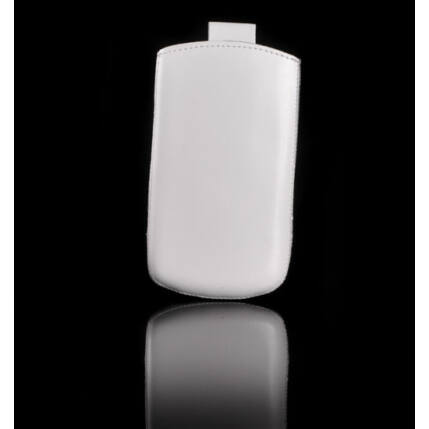 Álló bőr tok, HTC Desire C, fehér - Special