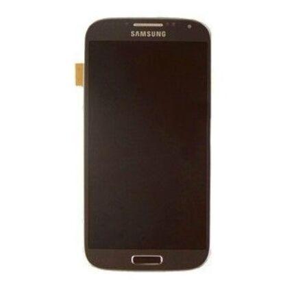 Samsung i9500 Galaxy S4, LCD kijelző érintőplexivel és előlappal, mélyfekete