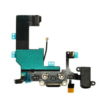 Apple iPhone 5, Rendszercsatlakozó, (headsetcsatlakozó, mikrofon), fekete