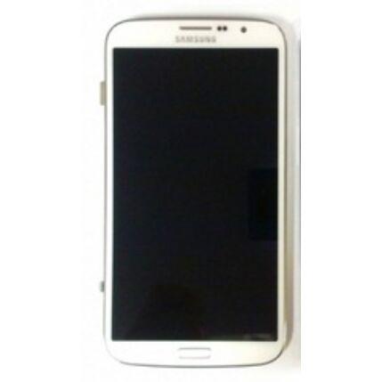 Samsung i9200/i9205 Galaxy Mega 6.3, LCD kijelző érintőplexivel és előlappal, fehér