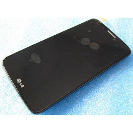 LG Optimus G2 D802, LCD kijelző érintőplexivel és előlappal, fekete