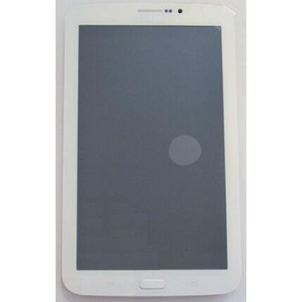 Samsung T211 Galaxy Tab 3 7.0, LCD kijelző érintőplexivel és előlappal, fehér