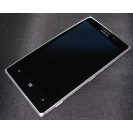 Nokia Lumia  925, LCD kijelző érintőplexivel és előlappal, ezüst