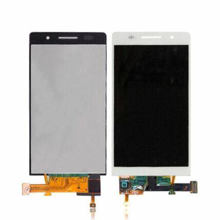 Huawei P6, LCD kijelző érintőplexivel és előlappal, fekete