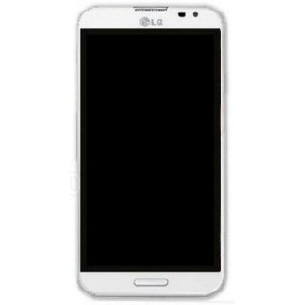 LG G Pro E986, LCD kijelző érintőplexivel és előlappal, fehér
