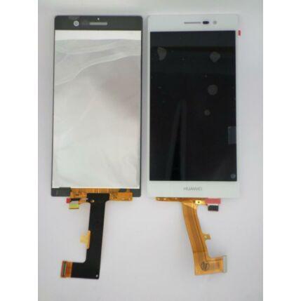 Huawei P7 érintőplexivel és előlappal, LCD kijelző, fehér