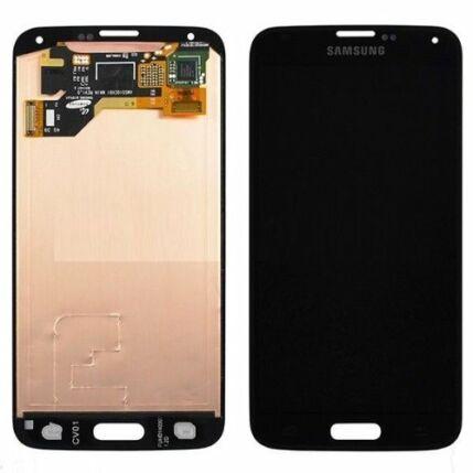 Samsung G900 Galaxy S5, LCD kijelző érintőplexivel, arany