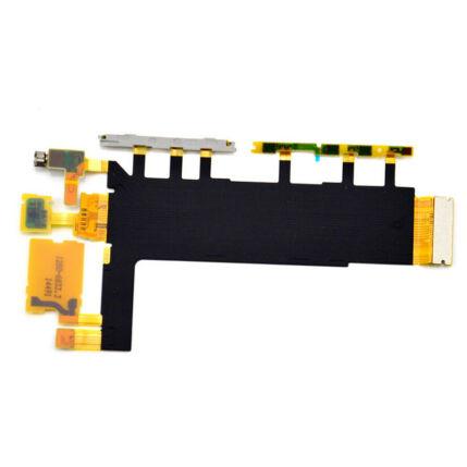 Sony Xperia Z3 D6603, Átvezető szalagkábel (Flex), (oldalgomb, mikrofon, vibramotor)
