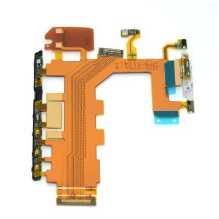 Sony Xperia Z2 D6503, Átvezető szalagkábel (Flex), (oldalgomb, mikrofon, vibramotor)