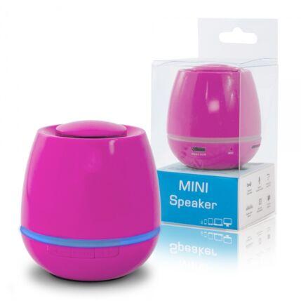Multimédia Hangszóró, Bluetooth Mini Megabass, rózsaszín