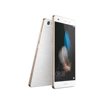 Mobiltelefon, Huawei P8 Lite, Kártyafüggetlen, 1 év garancia, fehér