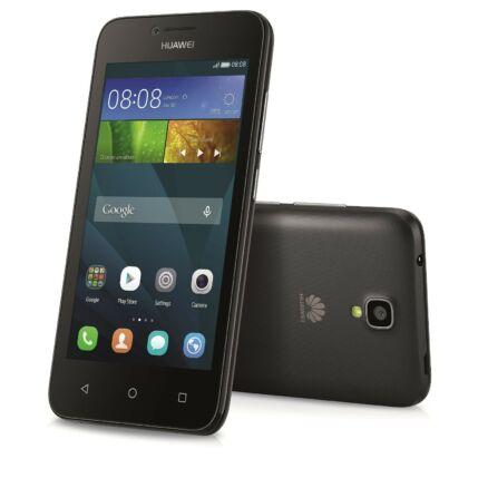 Mobiltelefon, Huawei Y5 4G, fekete