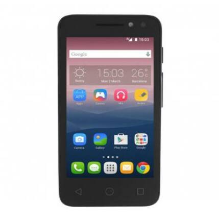 Mobiltelefon, Alcatel OT-4034D Pixi4 DualSIM, fekete