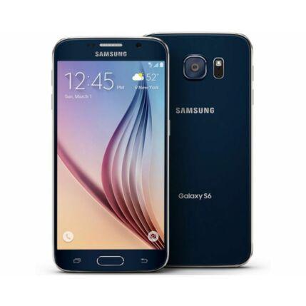 Mobiltelefon, Samsung G920F Galaxy S6 32GB, fekete