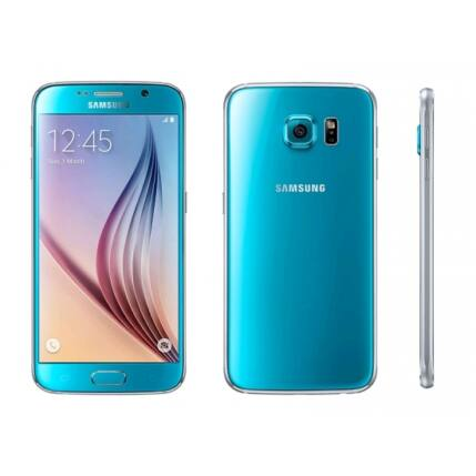 Mobiltelefon, Samsung G920F Galaxy S6 32GB, kék